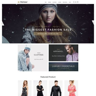 Honour - Multipurpose Responsive Magento2 Theme | Fashion store