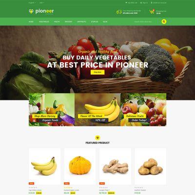 Pioneer - Multipurpose Responsive Magento2 Theme | food Store