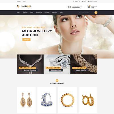 Pioneer - Multipurpose Responsive Magento2 Theme   Jewellery Store