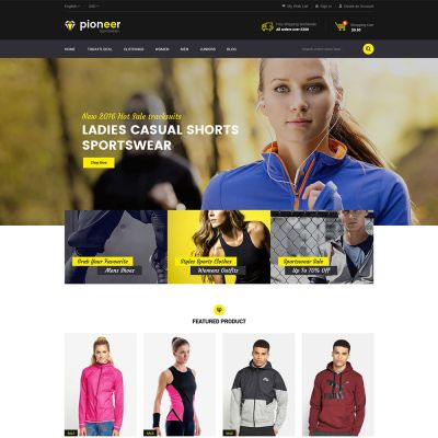 Pioneer - Multipurpose Responsive Magento2 Theme | Sportwear Store
