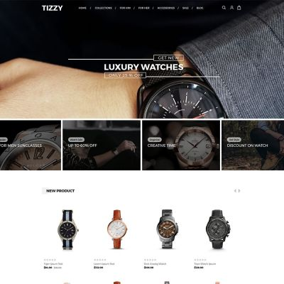 Tizzy - Multipurpose Responsive Magento2 Theme | Watch Store
