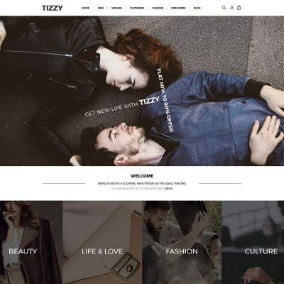 Tizzy - Multipurpose Responsive Magento2 Theme | Fashion Acaessories