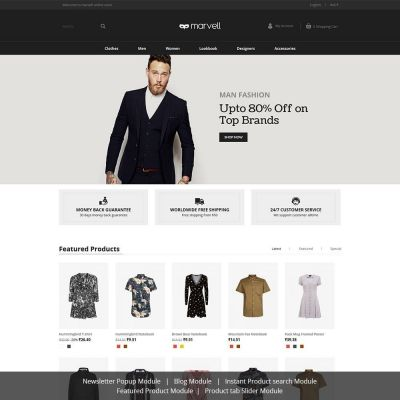 Marvell Fashion Prestahop Theme