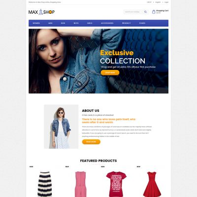 maxshop fashion prestashop theme