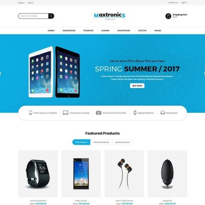 electronics mobile prestashop theme
