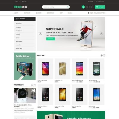 Mecon Mobile Electronics Prestashop Theme