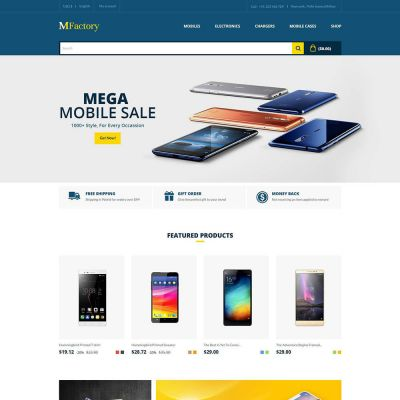Mfactory - Mobile Electronics Theme Template