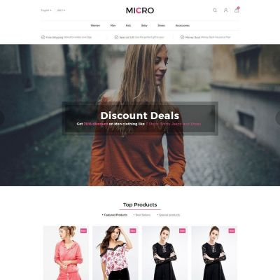 Micro Fashion Store clothing store Prestashop Theme