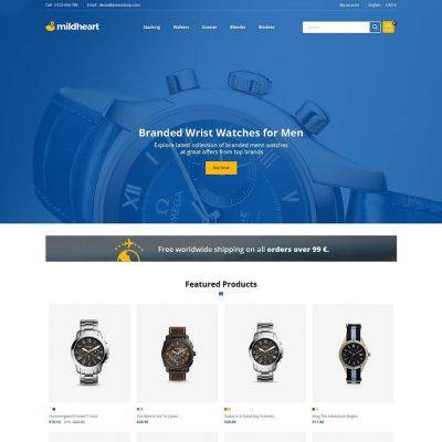 Mildheart Watch - Luxury Store	Template