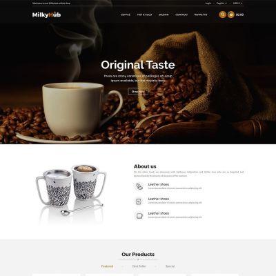 Milkyhub Drink -Coffee Store Template