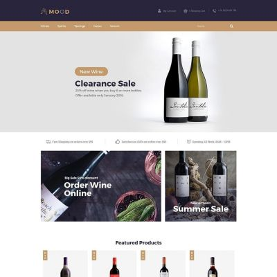 Mood Wine - Drink Store	Template