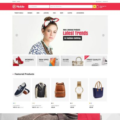 Noble Apparels - Women Fashion Store Template
