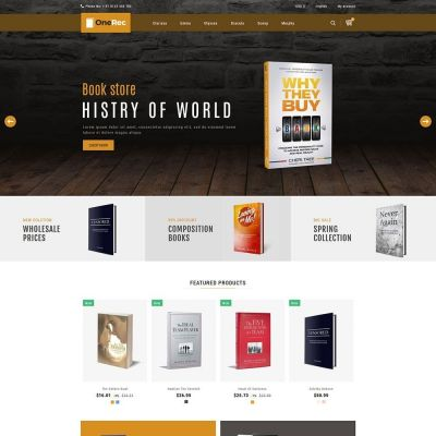 one rec book prestashop theme