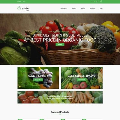 Organic Food Prestashop Theme
