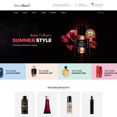 overa fashion store prefume prestashop theme