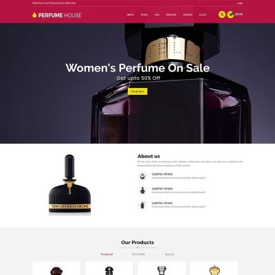 perfume fashion makeup prestashop theme