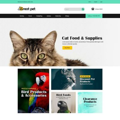 pet animal cat store prestashop theme