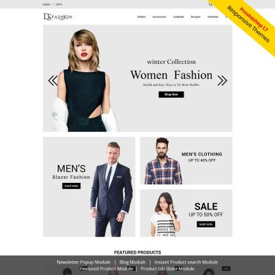 Fashion Prestashop 1.7.6 Free Themes