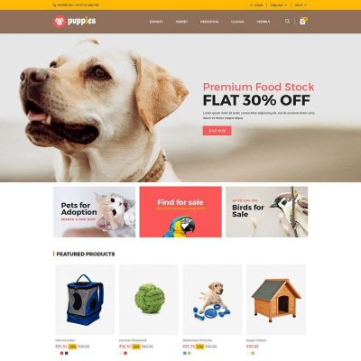 puppies animal prestashop theme