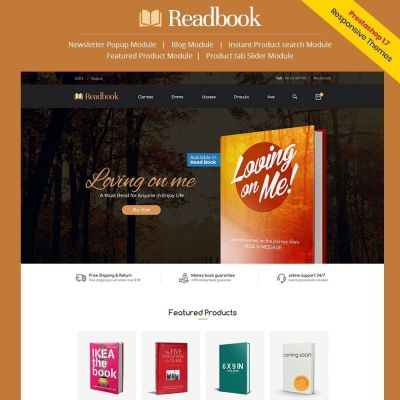 readbook book prestashop theme