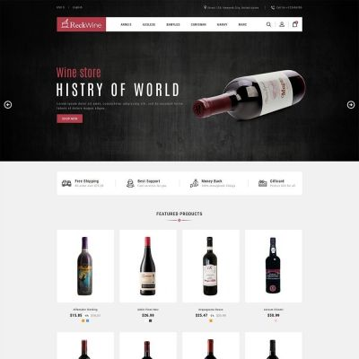 Recwine Drink Prestashop Theme
