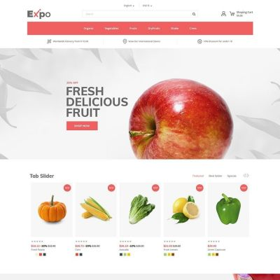 expo restaurant food prestashop theme