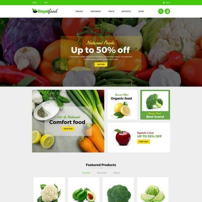 royal food fruit prestashop theme