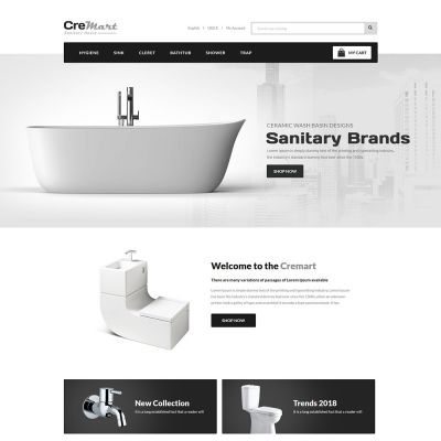 sanitary bathroom prestashop theme