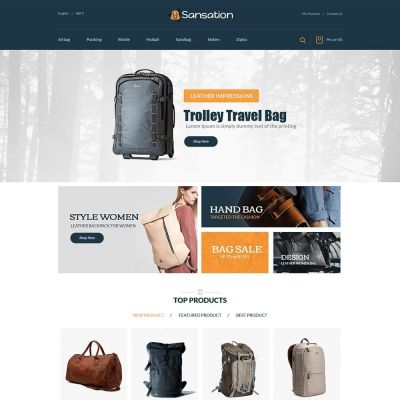 sansation bag Cloth prestashop theme