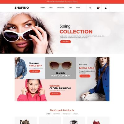 Shopino Cloth Fashion Prestahsop-Theme