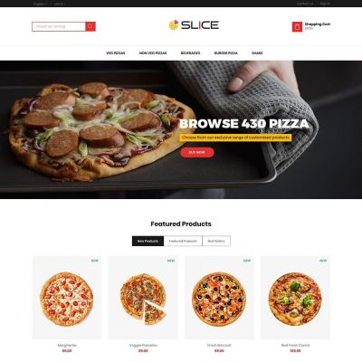Slice Pizza Food - Burger Bakery Store Template