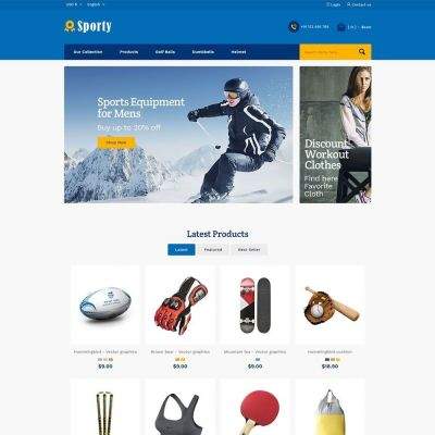 Sporty Fashion Store Prestashop Theme