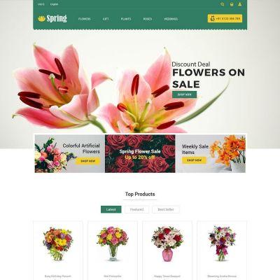 Spring Flower Gift Store Prestashop Theme