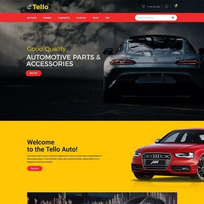 Tello Auto - Car Black Dark	Template