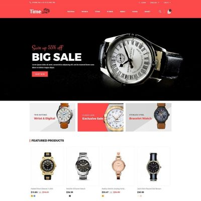 timezone watch store prestashop theme
