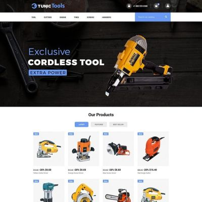 tool car auto store prestashop theme