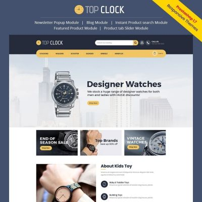 top clock watch fashion prestashop theme