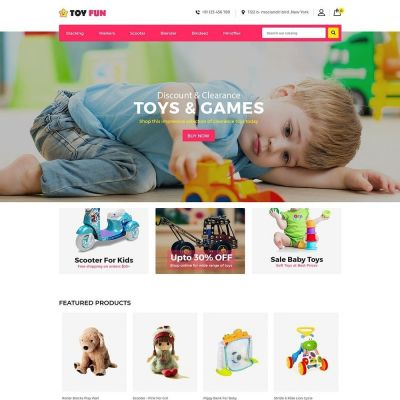 Toy Fan Kids Store Prestashop Theme