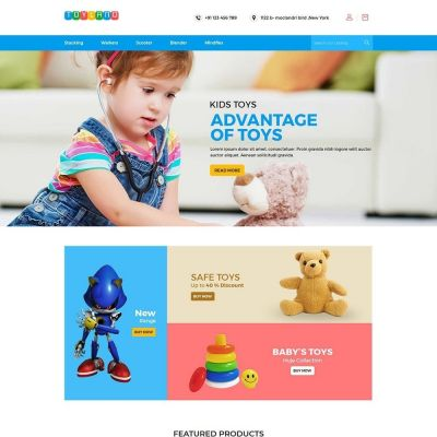 Toyland - Toy Kids Store  Template