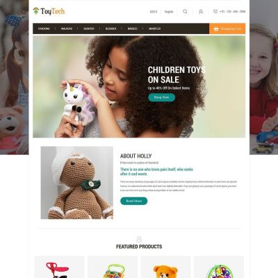 toytech toy kids prestashop theme