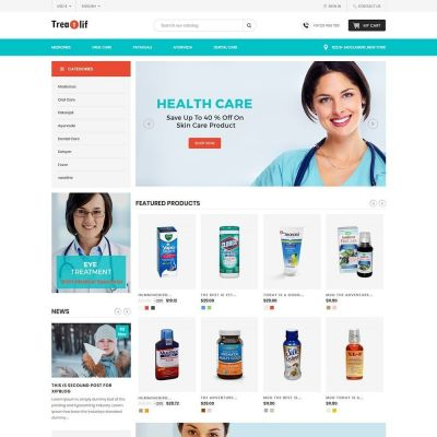 Treat Life - Medical Drug Store	Template