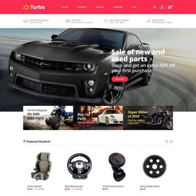 turbo auto car prestashop theme