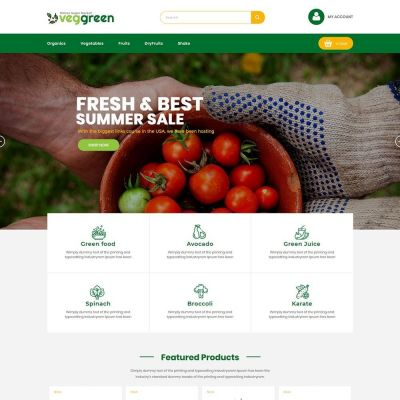 veggreen food prestashop theme