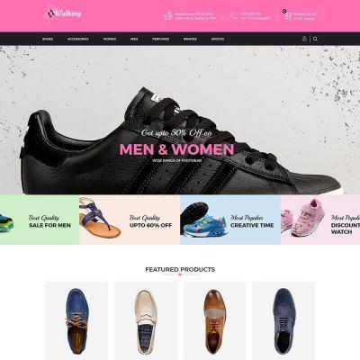Walking Shoes Fashion psd