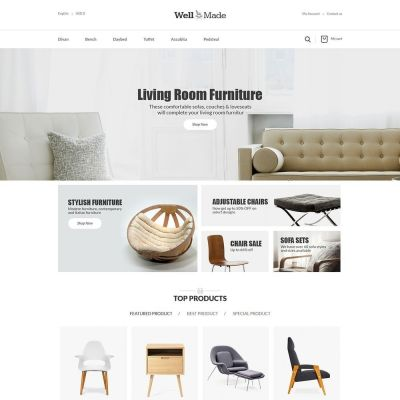 Wellmade Light Furniture Prestashop Theme