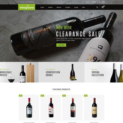 winezone wine drink store prestashop theme