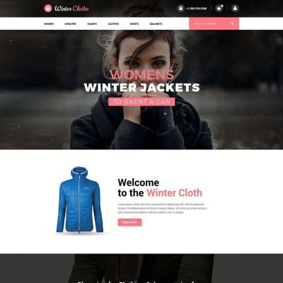 winter cloth fashion Prestashop theme