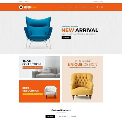 Wood Furniture prestashop theme