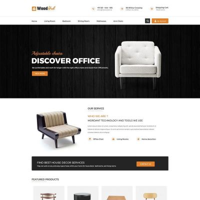 woodhub furniture chair prestashop theme