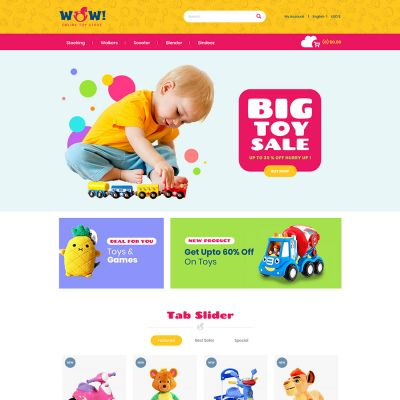 wow toy kids prestashop themes